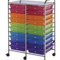 Blue Hills Studio Double Storage Cart with 20 Drawers