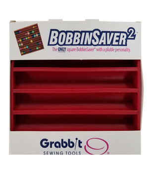 Grabbit BobbinSaver 2-Red, Holds Up To 66 Bobbins
