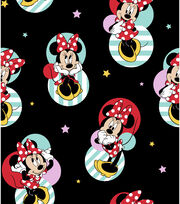 """Disney Minnie Mouse Cotton Fabric 43""""-Traditional, , hi-res"""