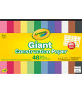 Crayola 48-sheet 18\u0027\u0027x12\u0027\u0027 Giant Construction Papers with Stencil Sheet
