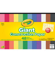Crayola 48-sheet 18''x12'' Giant Construction Papers with Stencil Sheet, , hi-res