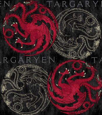 Game of Thrones Fleece Fabric-House Targaryen