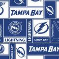 Tampa Bay Lightning Fleece Fabric 60\u0027\u0027-Block