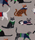 Anti-Pill Fleece Fabric -Sweater Cats