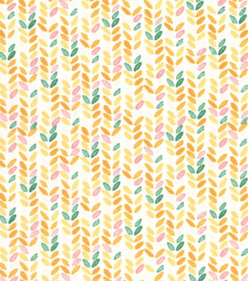 Premium Cotton Print Fabric 43''-Yellow Striped Geos on Pearl