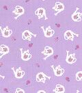 1930\u0027s Premium Cotton Print Fabric 43\u0027\u0027-Watering Can on Purple