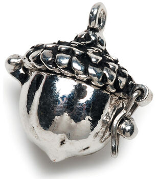 Jewelry charms pendants joann darice prayer box charm antique silver acorn mozeypictures Image collections