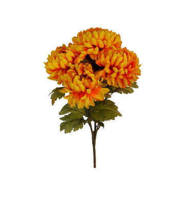Blooming Autumn Water Resistant Mum Bush-Yellow