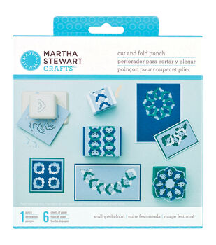 Martha Stewart Cut & Fold Punch-Scalloped Clouds