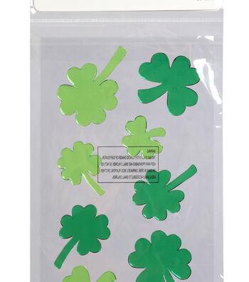 St. Patrick's Day Decor Gel Clings-Shamrocks
