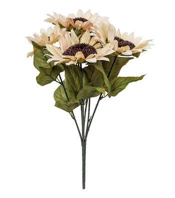 Blooming Autumn Water Resistant Sunflower Bush-Cream