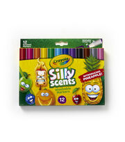 Crayola Silly Scents Chisel Tip Markers 12/Pkg, , hi-res