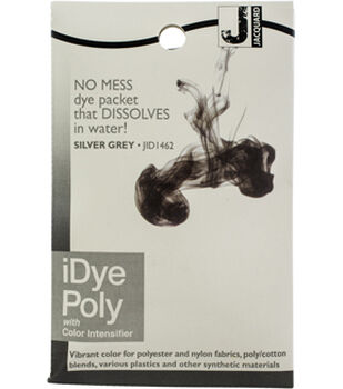 Jacquard iPoly Fabric Dye 14g-SILVERGREY Multipack of 12