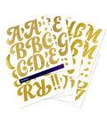 Sticko 104 Pack Funkydori X-Large Glitter Alphabet Stickers-Gold