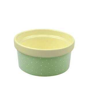 Mini Ramekin-Polka Dots on Turquoise