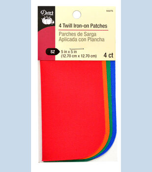Dritz 5'' x 5'' Twill Patches Neon