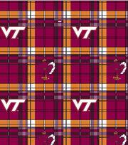 "Virginia Tech Hokies Fleece Fabric 58""-Plaid, , hi-res"