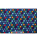 Blizzard Fleece Fabric 59\u0022-Pattern Dots Navy