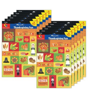 Creative Teaching Press Thanksgiving Fun Stickers 12 Packs