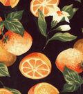 Novelty Cotton Fabric 43\u0027\u0027-Oranges on Black