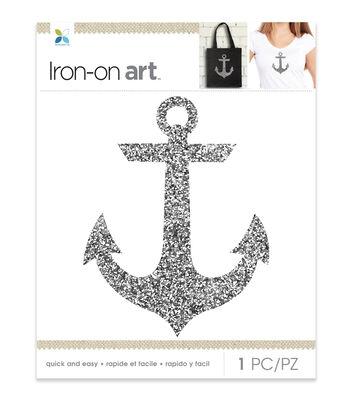 Momenta Anchor Glitter Iron-on Art-Silver