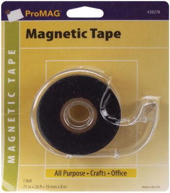 """Magnum Magnetics Adhesive Tape Magnetic Strip W/Dispenser-.75""""x26'"""