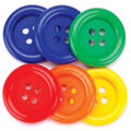 Favorite Findings Big Basic Buttons-Primary 6/pkg
