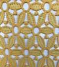 Knit Lace Fabric 47\u0027\u0027-Daffodil Geometric Daisy