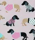 Soft & Comfy Fleece Fabric 58\u0022-Dogs in Sweaters