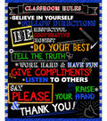 Novelty Cotton Fabric Panel-Classroom Rules