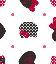Sanrio Hello Kitty Flannel Fabric 42''-Dots All Over, , hi-res