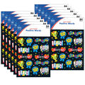 Carson Dellosa Positive Words Shape Stickers 12 Packs