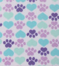 Blizzard Fleece Fabric -Cool Cat Paws