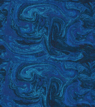 Wide Flannel Fabric-Navy Marble