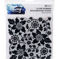 Simon Hurley create. Cling Stamps 6\u0027\u0027X6\u0027\u0027-Flower Garden