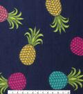 Blizzard Fleece Fabric 59\u0022-Colored Pineapples