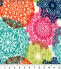 Anti-Pill Fleece Fabric 62\u0022-Happy Geo