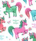 Snuggle Flannel Fabric 42\u0022-Belve in Magic Unicorn