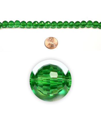 Large Round Faceted Glass Beads