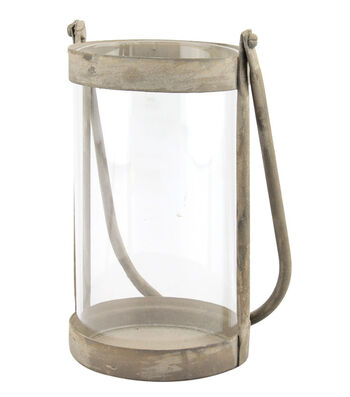 Hudson 43 Farm Small Rustic Metal Hurricane Lantern