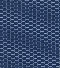 Quilter\u0027s Showcase Cotton Fabric -Hexagon Wire on Navy