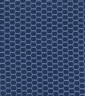 Quilter\u0027s Showcase Cotton Fabric -Hexagon Wire on Navy