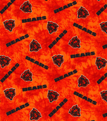 "Chicago Bears Flannel Fabric 42""-Tie Dye"