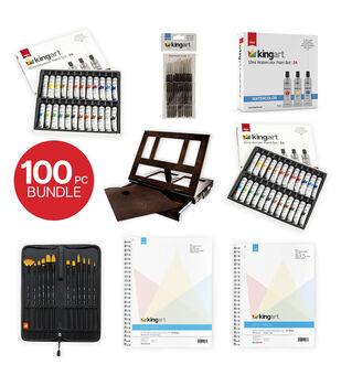 KINGART Mixed Media Bundle Collection 100 Pc.