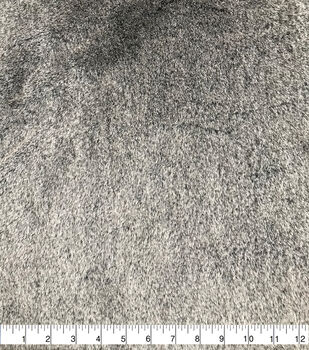 Black Blear Tipped Faux Fur Fabric