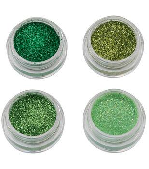 Maker's Halloween Costume Cosmetic Glitter Makeup Set-Green