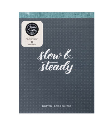 Kelly Creates 50-sheets 8.5''x11'' Paper Pad-Dots, Slow & Steady