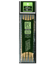 "Takumi Bamboo Double Point Knitting Needles 7"" 5/Pkg-Size 13/9mm, , hi-res"