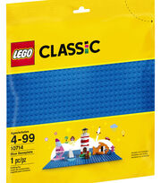 LEGO Classic Blue Baseplate 10714, , hi-res