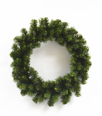 Blooming Holiday Christmas 18'' PVC Pine Promo Wreath